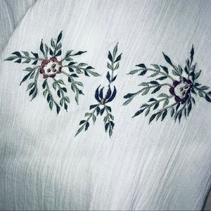 New Directions Tops - New Directions Floral Embroidered Long Sleeve Top